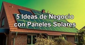 5 ideas de negocio paneles solares