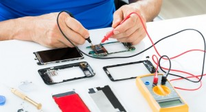negocio de reparación de teléfono móvil