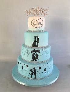 wedding cake pastel boda